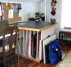 art studio desk rooms