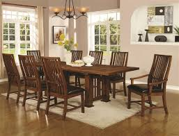 Mission Style Dining Room Sets by Beaumont 5 Piece Dining Table Set In Golden Brown Finish By