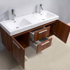 abersoch 54 inch double sink plum bathroom vanity