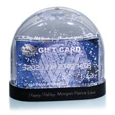 gift card snow globe snow globe with gift card insert paperdirect s