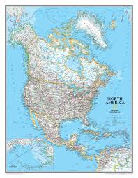 North America Maps by National Geographic North America Wall Map Maps Com
