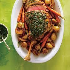 roasted leg of lamb with herb sauce ricardo
