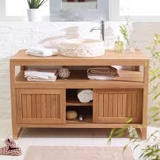 meubles en teck massif beautiful meuble vasque salle de bain bois ideas amazing house