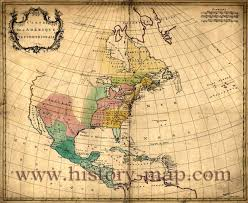 Colonial Map Of America map of united states