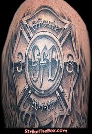 strike the box firefighter tattoos