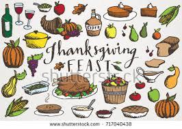 thanksgiving feast clip stock vector 717040438