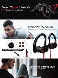 Discount Mpow Bluetooth Headphones Waterproof Ipx7 Wireless Earbuds Sport Richer Bass Hifi Stereo In Ear Earphones W Mic Case 7 9 Hrs For Running Workout Noise Cancelling Headsets Red Outside Amazon Com Bluetooth Headphones Otium Best Wireless Sports