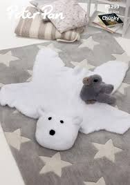 peter pan baby polar bear rug u0026 duckling toy precious chunky