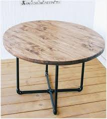 reclaimed wood round coffee table pipe coffee table cozy reclaimed wood round coffee table with pipe