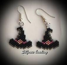 halloween boo ghost beaded earrings by bead4fun on etsy 25 00