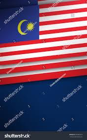 Malasia Flag Malaysian Flag Banner Malaysia Color Poster Stock Illustration