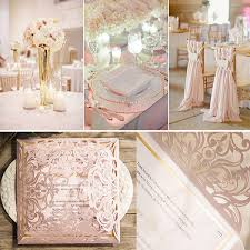 blush and gold wedding invitations blush pink laser cut gold foil sted wedding
