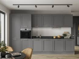 grey kitchen cupboards with black worktop grey kitchen ideas grey kitchen designs howdens