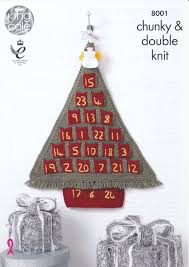 christmas 8001 knitting pattern king cole angel toy festive advent