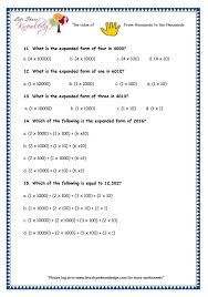 numbers in expanded form grade 3 maths worksheets 5 digit numbers 2 2 expanded form of 4