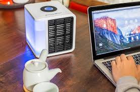 Portable Desk Air Conditioner This Tiny Glowing Box Is Actually A Portable Personal Air