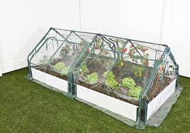 Pvc Raised Garden Bed - frame it all one inch series composed white raised garden bed