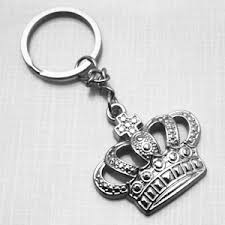 wedding favor keychains silver royal crown keychain favor wedding favor key chains
