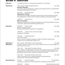 example of a chronological resume resume examples and
