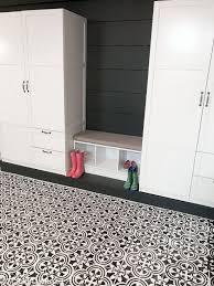 a basement floor makeover using a tile stencil stencil stories