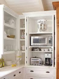 Small Kitchen Appliances Garage With Tiled Backsplash by Best 25 Appliance Garage Ideas On Pinterest Appliance Cabinet