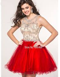 online get cheap champagne cocktail dresses beaded sequins