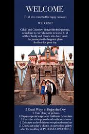 online wedding programs signature wedding program chic disney wedding