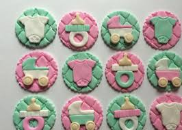 fondant decorations for baby shower cupcakes decorating of party