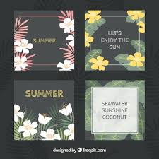 set of tropical cards with message vector free