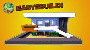 How To Build A Small House Minecraft Tutorial How To Build A Small Modern House Youtube