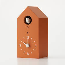 Modern Cuckoo Clock Amazon Com Muji Cuckoo Clock Orange Limited Edition Size