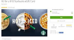 starbuck gift card deal 5 for a 10 starbucks egift card at groupon targeted danny