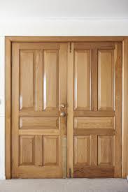 image of modern double wooden front door freebie photography