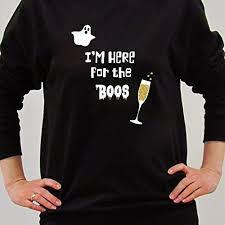 halloween here for the boos sweatshirt novelty sweatshirt