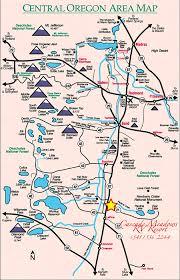 central oregon map pinteres