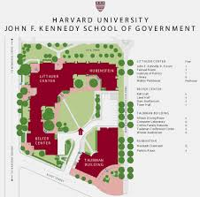 Harvard Map John F Kennedy Of Government Campus Map Cambridge Ma