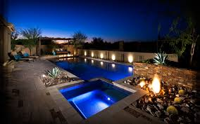 Arizona Backyard Landscaping by Blooming Desert Custom Arizona Pools And Landscapes