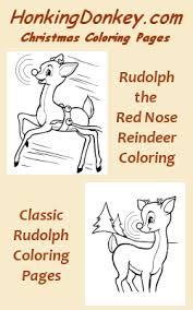 rudolph red nose reindeer coloring pages honkingdonkey
