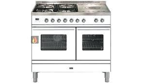 gaz electrique cuisine piano cuisine electrique piano de cuisson blanc finition chrome