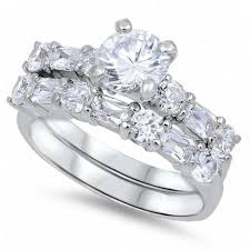 wedding ring sets rings tagged silver wedding ring sets jewelry box