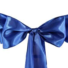blue bows 5pcs royal blue satin chair sashes tie bows catering wedding party