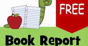 book report template 4th grade free book report template