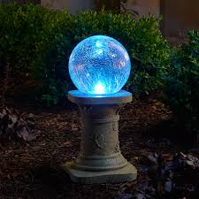Hanging Gazing Ball Solar Gazing Ball With Pedestal Color Changing Smart Solar
