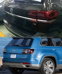 volkswagen crossblue vw teramont vs vw crossblue concept rear fascia indian autos blog