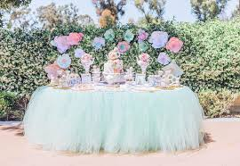Mint Green Table Cloths Mint Green Tutu Table Skirt By Five Whimsy Lane Catch My Party