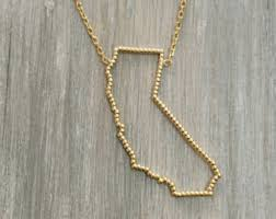 personalized sted necklace california necklace etsy