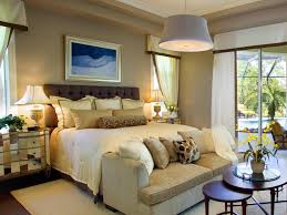 elegant bedroom ideas with chic drum pendant lighting and