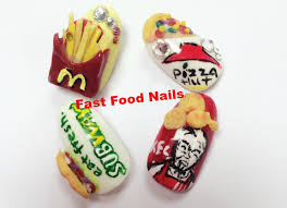 Food Nail Art Designs 3d Acrylic Nail Art Tutorial Subway Nails Youtube