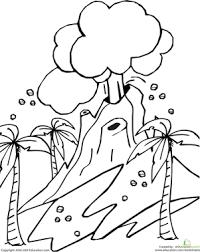 volcano worksheet education com