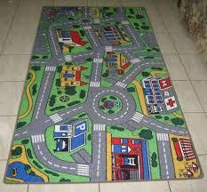 Childrens Play Rug New City Road Car Track Kids Play Mat Rug 100x200cm Ebay
